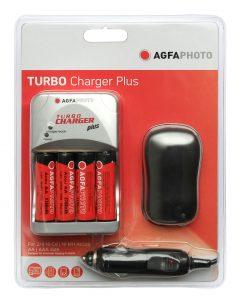AgfaPhoto Turbo Charger laturi +4x2700mAh akut