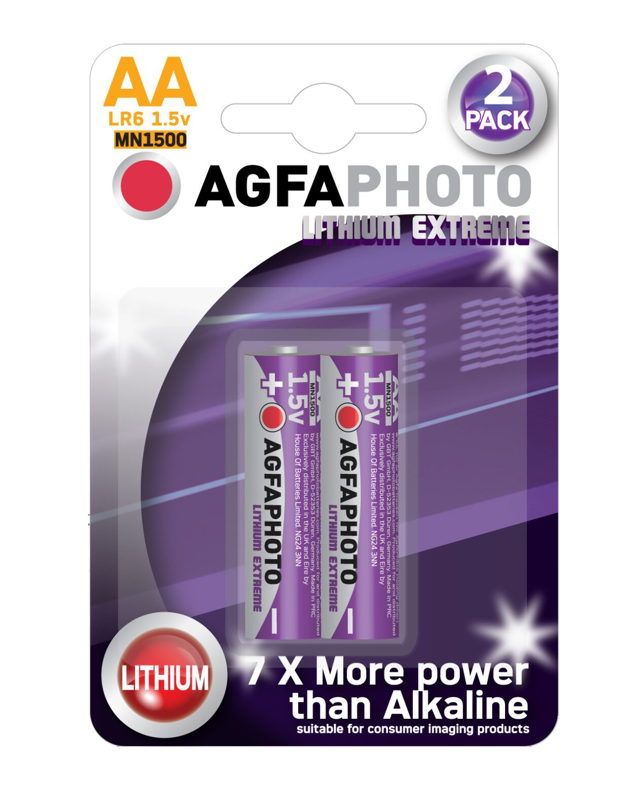 AgfaPhoto lithium AA 2-pack myyntipakkaus