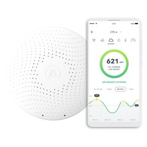 Airthings-Wave-Plus-with-mobile-app-CO2