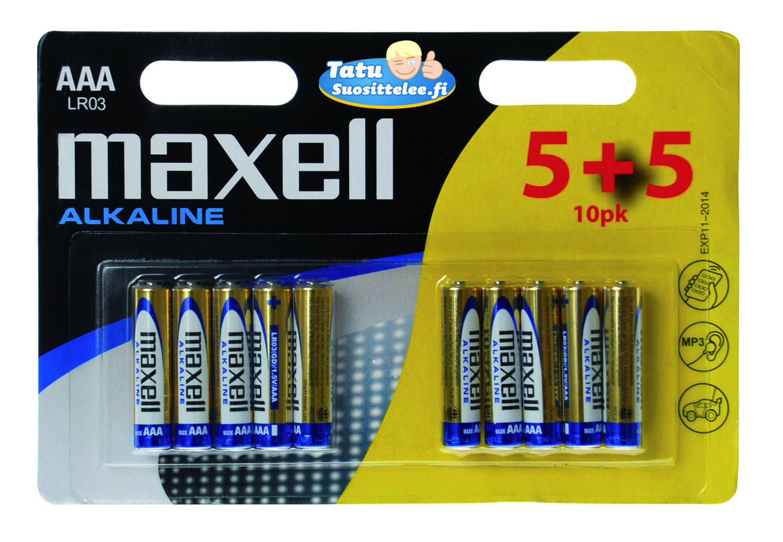 Maxell AAA-paristo LR3 10-pack (5+5)