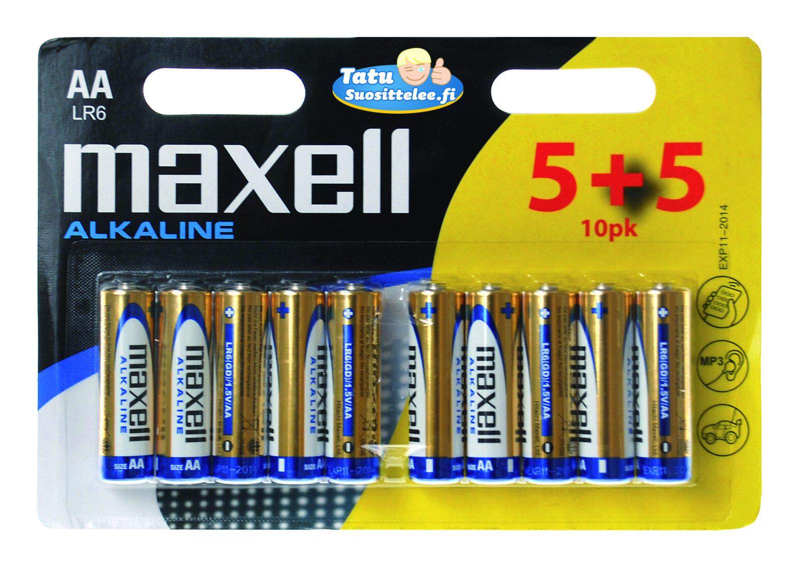 Maxell AA-paristo LR6 10-pack (5+5)