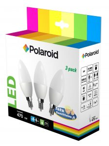 Polaroid LED kynttilälamppu 5W E14 3-pakkaus