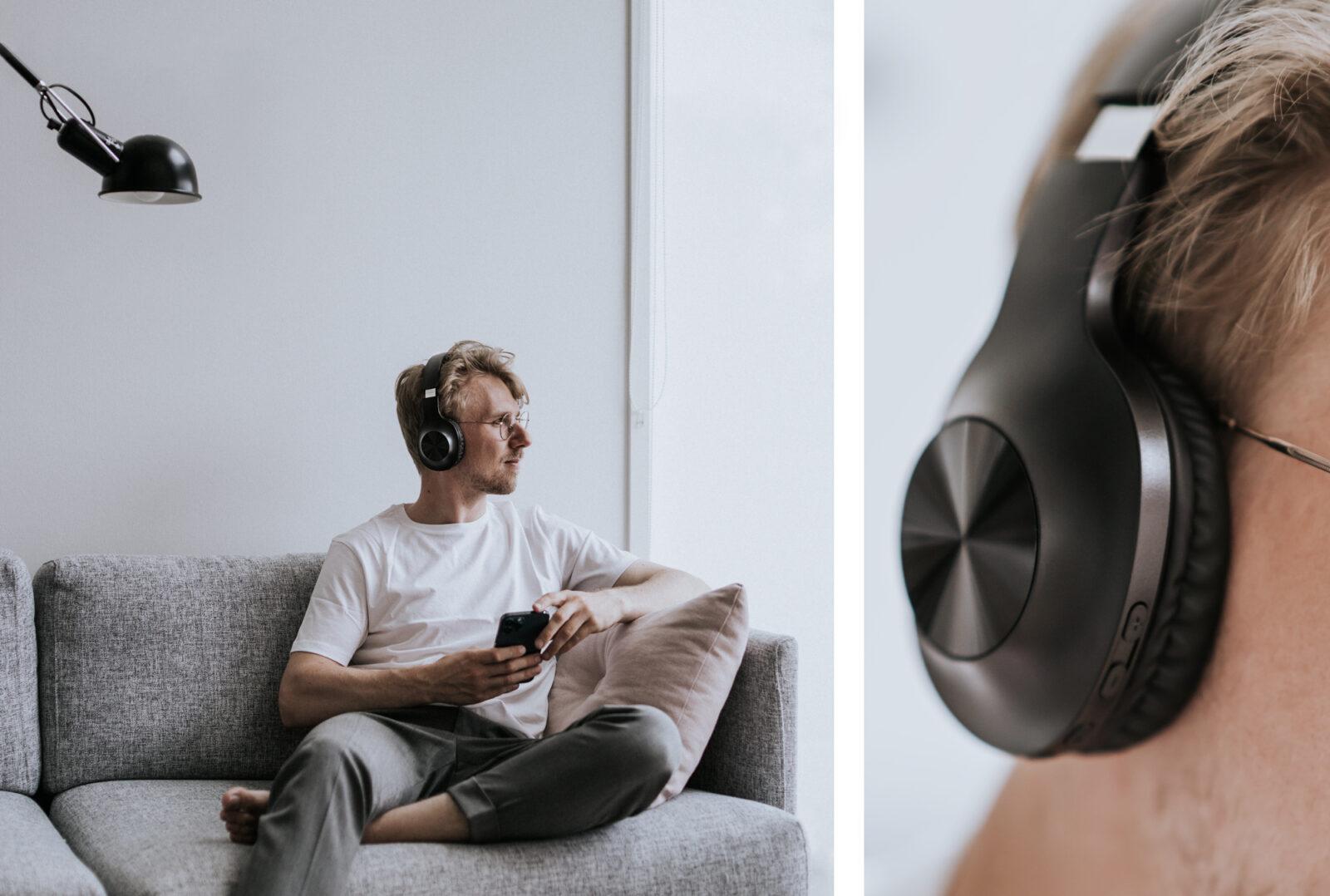 HD116 bluetooth-sankakuulokkeet musiikin fiilistelyyn.
